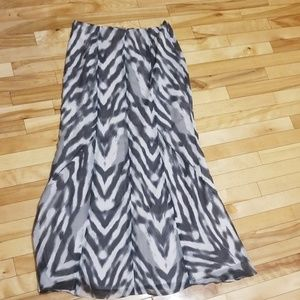 New York and Company Zebra print maxi skirt